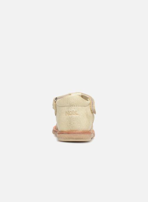 Sandales et nu-pieds Noël Mini Servi Or et bronze vue droite