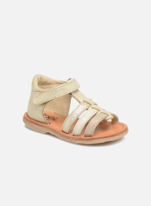 Sandales et nu-pieds Noël Mini Servi Or et bronze vue détail/paire
