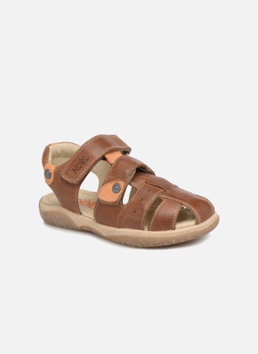 Sandaler Noël Tylero Brun detaljeret billede af skoene