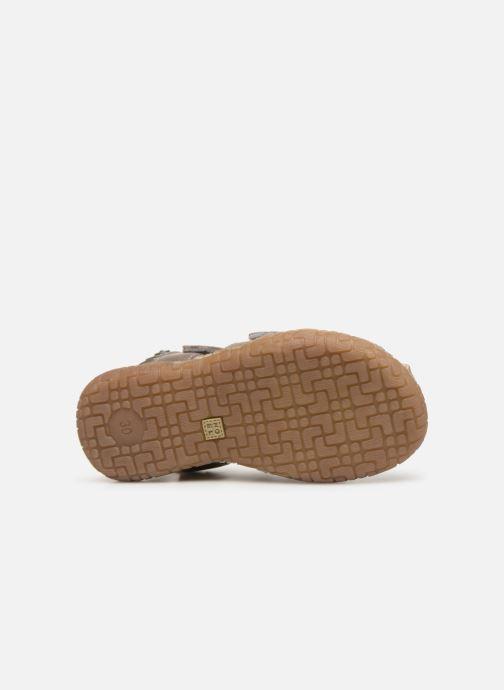Sandales et nu-pieds Noël Tylero Marron vue haut