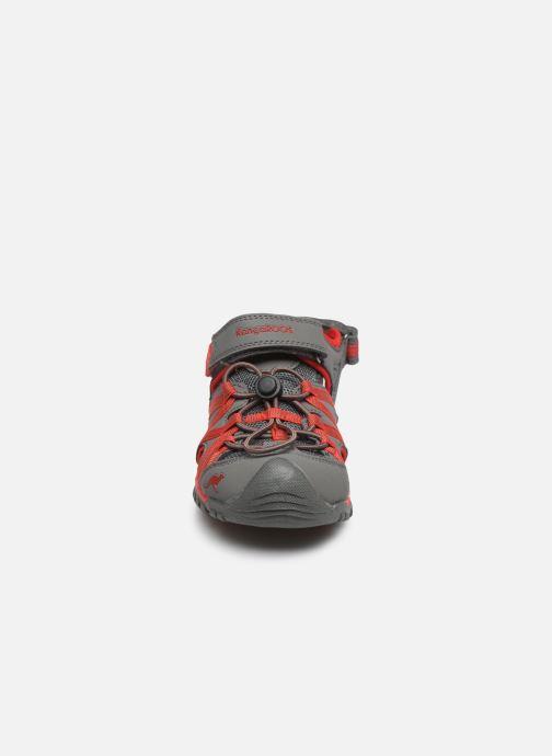 Sandales et nu-pieds Kangaroos Osato Gris vue portées chaussures
