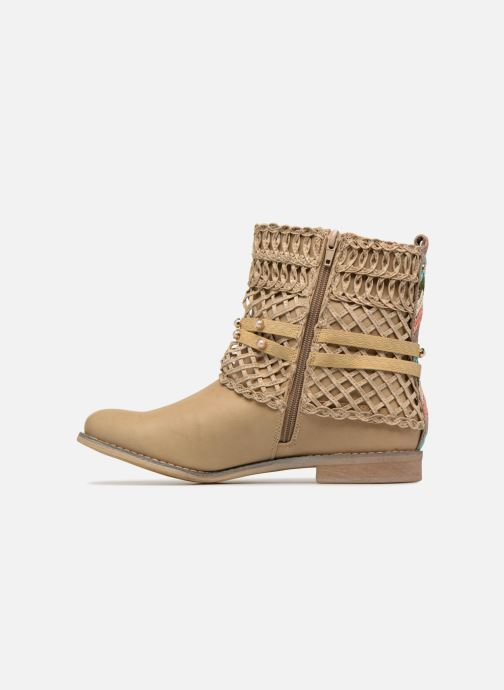 Ankle boots Bullboxer BESSIE Beige front view