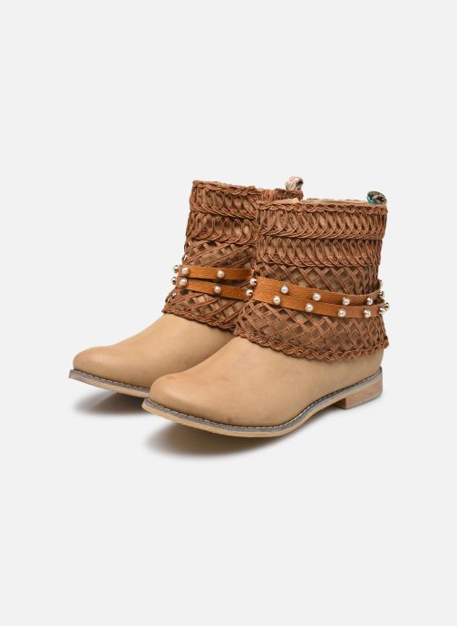 Ankle boots Bullboxer BESSIE Brown view from underneath / model view