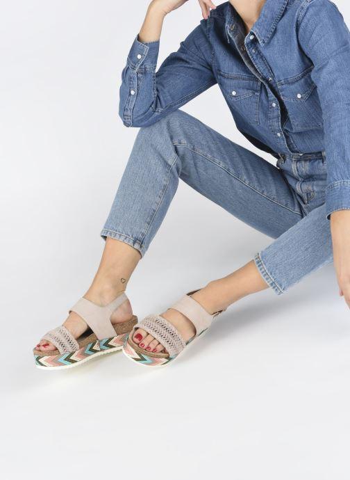 Sandales et nu-pieds Bullboxer RHONDA Beige vue bas / vue portée sac