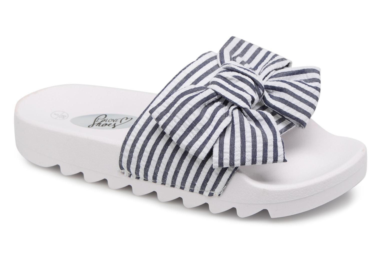 Mules et sabots I Love Shoes Kistripes Bleu vue détail/paire
