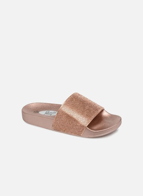 Mules et sabots I Love Shoes Kilma Or et bronze vue détail/paire