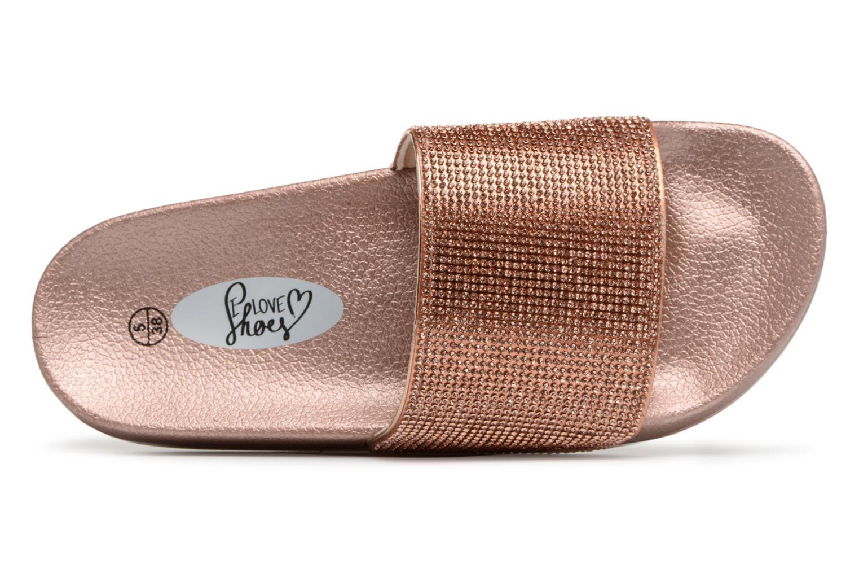 Mules et sabots I Love Shoes Kilma Or et bronze vue gauche