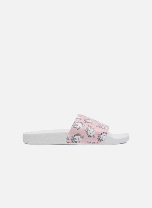 Wedges TheWhiteBrand UNICORNS Roze achterkant