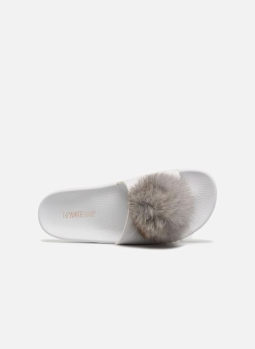 Wedges TheWhiteBrand POMPOM Wit links