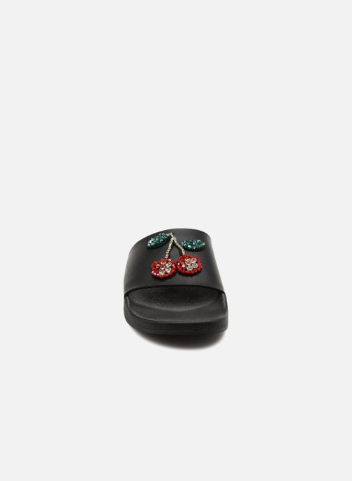 Mules et sabots TheWhiteBrand CHERRYS Noir vue portées chaussures
