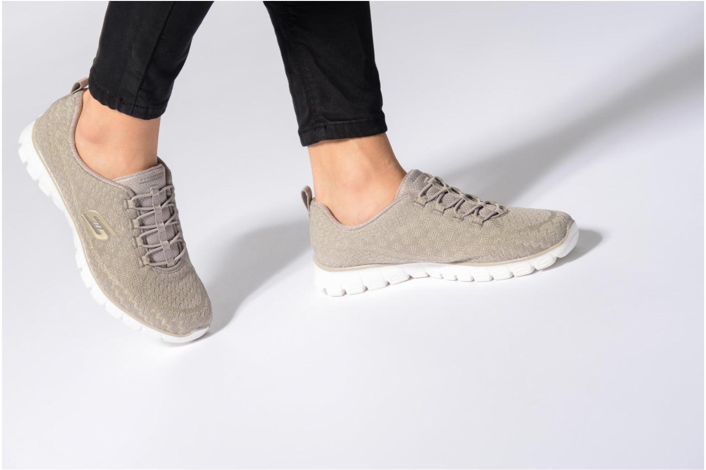 Chaussures de sport Skechers Ez Flex 3.0-Estrella Beige vue bas / vue portée sac
