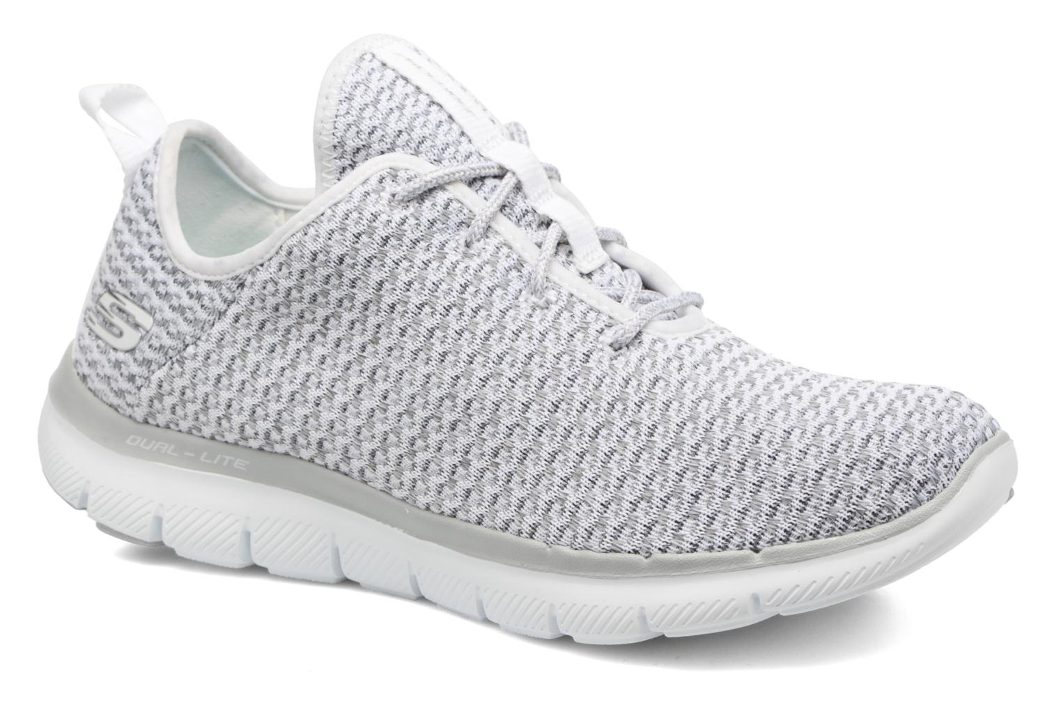 Sport shoes Skechers Flex Appeal 2.0-Bold Move Grey detailed view/ Pair view