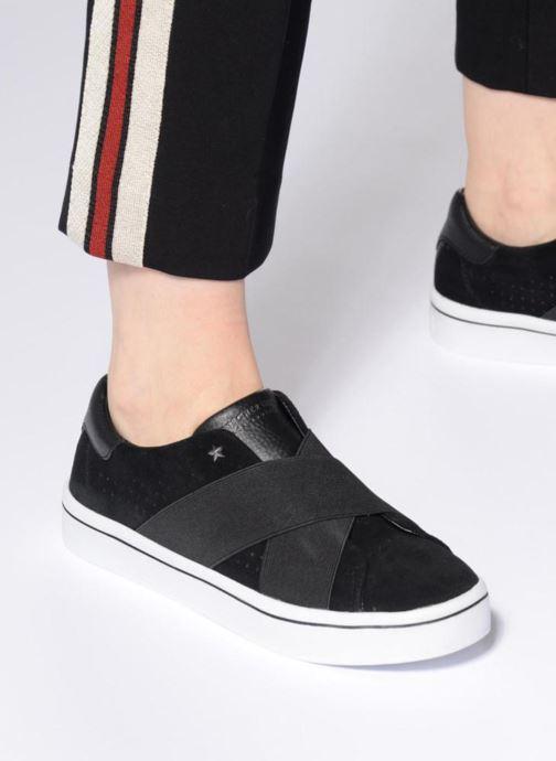 Sneaker Skechers Hi-Lite-Street Crossers schwarz ansicht von unten / tasche getragen