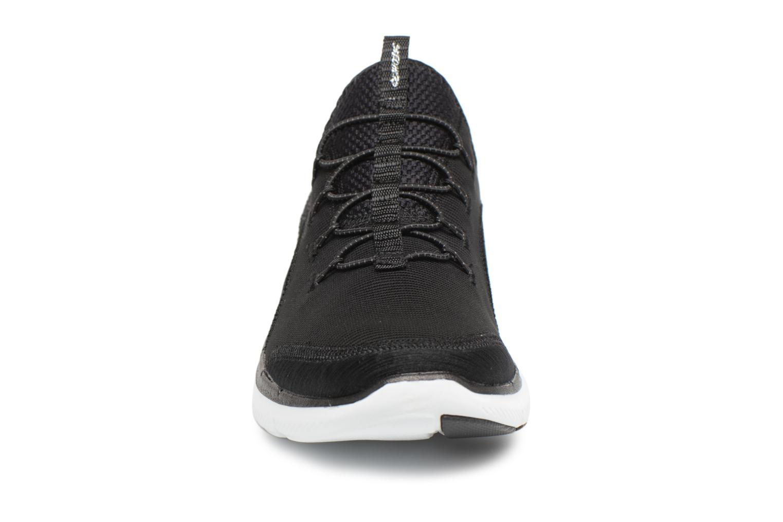 Chaussures de sport Skechers Flex Appeal 2.0-Mixed Media Noir vue portées chaussures