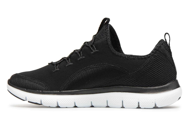 Chaussures de sport Skechers Flex Appeal 2.0-Mixed Media Noir vue face