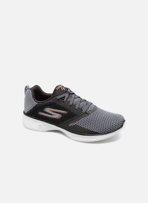 Sport shoes Skechers Go Walk 4 1 Black detailed view/ Pair view