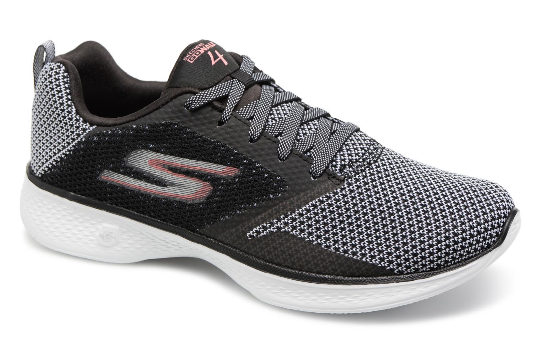 Sportssko Skechers Go Walk 4 1 Sort detaljeret billede af skoene