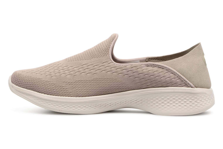 Sneakers Skechers Go Walk 4-Convertible Beige bild från framsidan