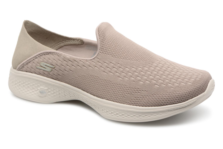 Sneakers Skechers Go Walk 4-Convertible Beige detaljerad bild på paret