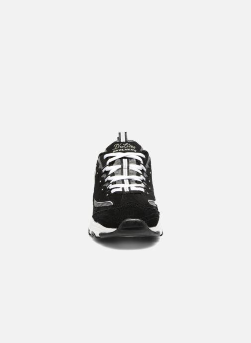 Baskets Skechers D'Lites-Me Time Noir vue portées chaussures