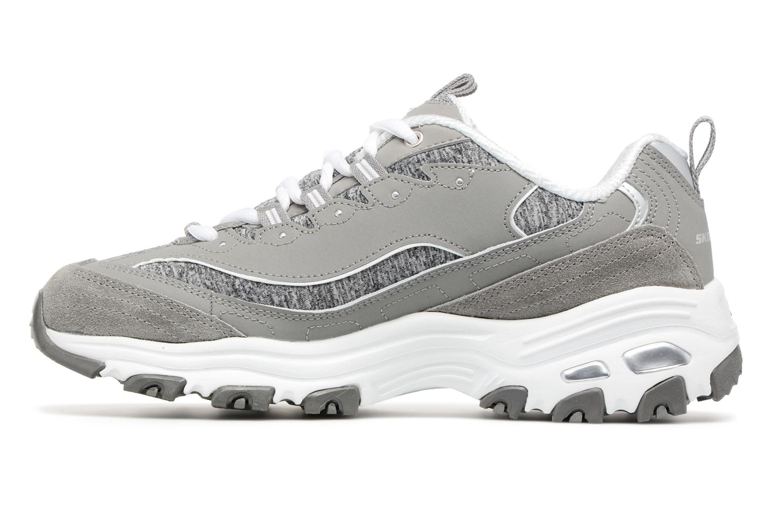 Baskets Skechers D'Lites-Me Time Gris vue face