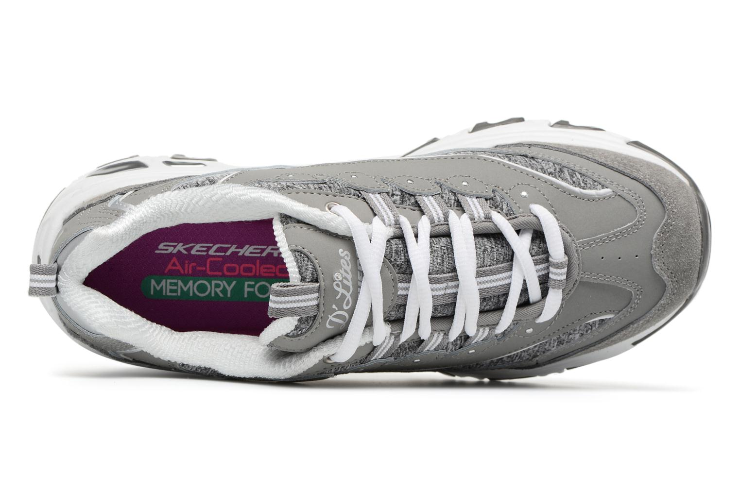 Baskets Skechers D'Lites-Me Time Gris vue gauche