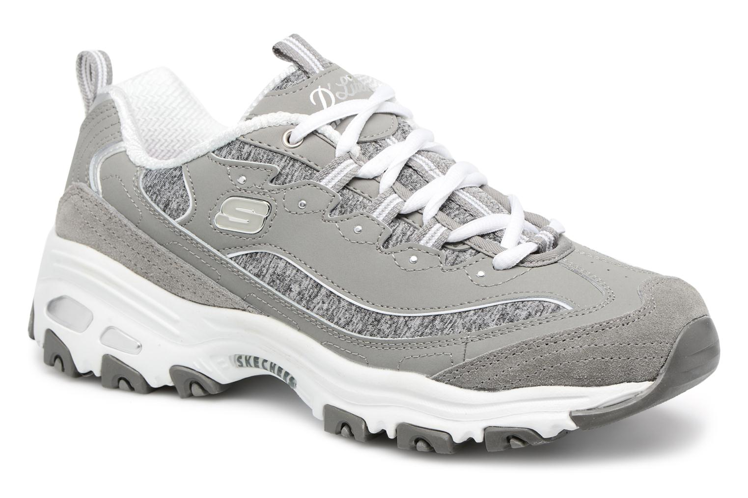 Baskets Skechers D'Lites-Me Time Gris vue détail/paire