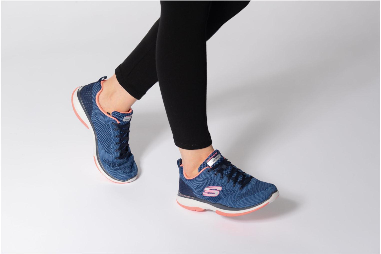 Chaussures de sport Skechers Burst Tr-Close Knit Bleu vue bas / vue portée sac