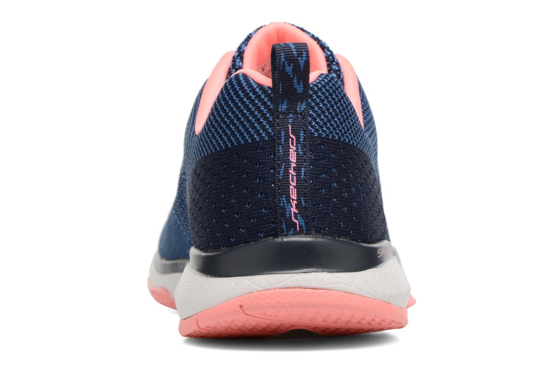 Chaussures de sport Skechers Burst Tr-Close Knit Bleu vue droite