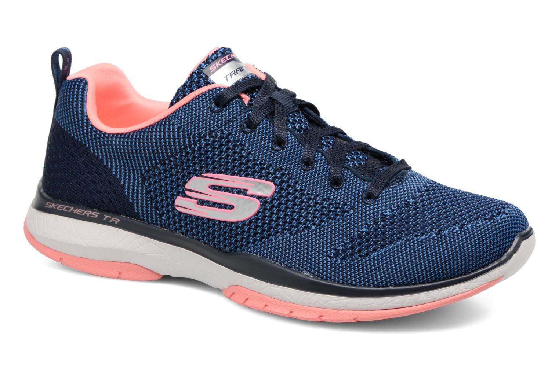 Chaussures de sport Skechers Burst Tr-Close Knit Bleu vue détail/paire
