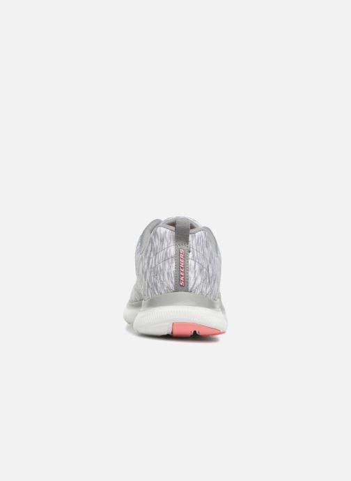 Chaussures de sport Skechers Flex Appeal 2.0 Reflection Gris vue droite