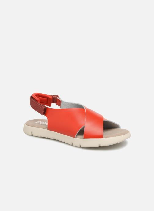 Sandals Camper Mira Red detailed view/ Pair view