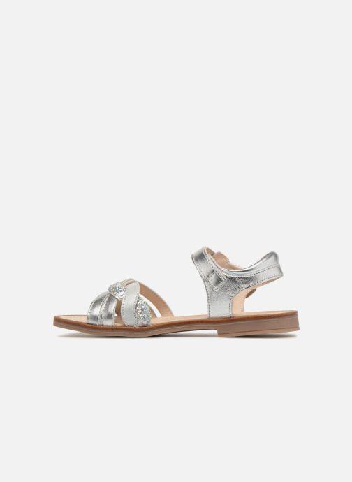 Sandales et nu-pieds Romagnoli Matilde Argent vue face