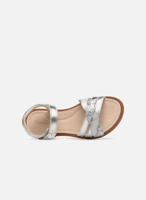 Sandales et nu-pieds Romagnoli Matilde Argent vue gauche