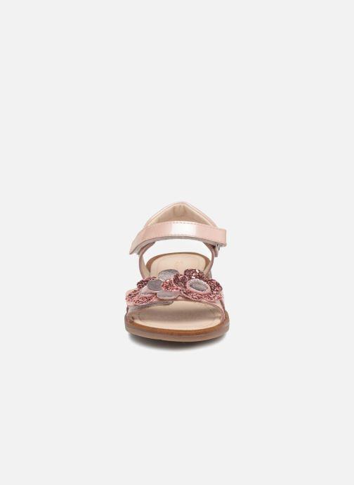 Sandales et nu-pieds Romagnoli Mirella Rose vue portées chaussures