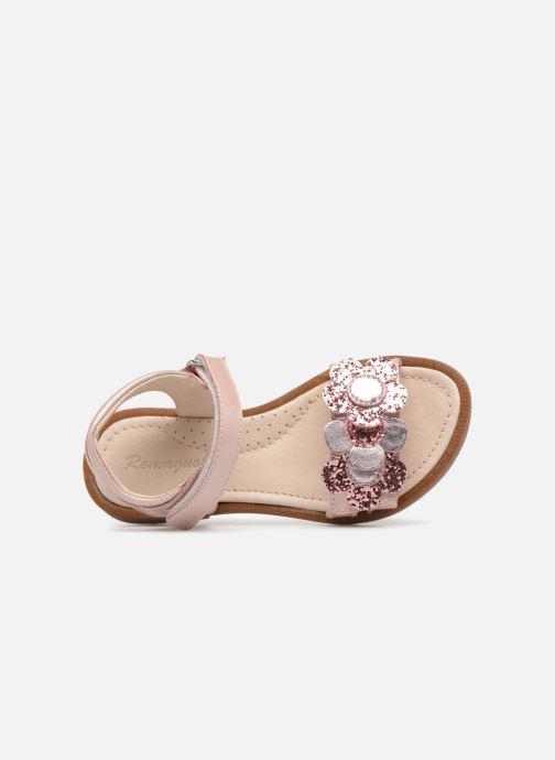 Sandales et nu-pieds Romagnoli Mirella Rose vue gauche