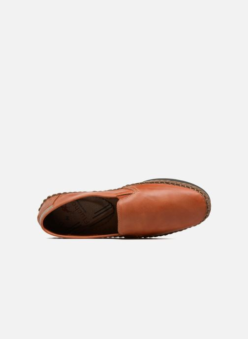 Mocassins Fluchos Bahamas 8264 Orange vue gauche
