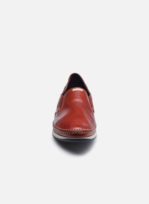Mocasines Fluchos James 9126 Rojo vista del modelo