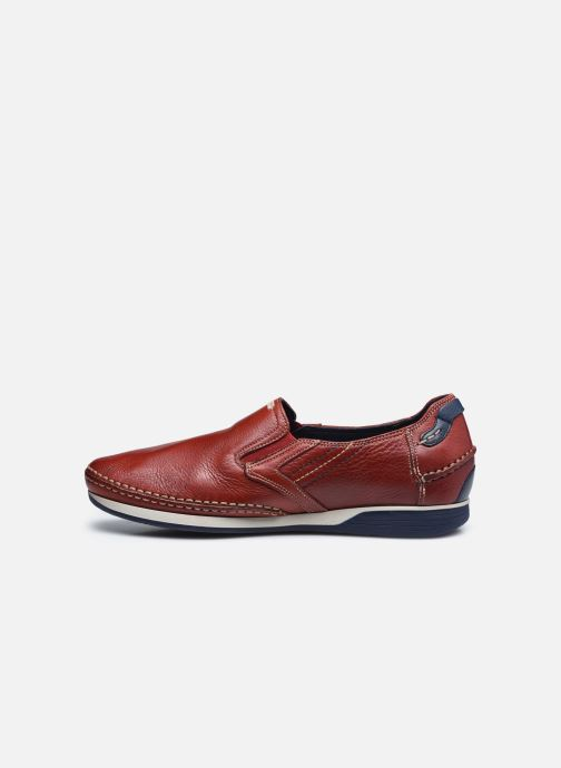 Mocasines Fluchos James 9126 Rojo vista de frente