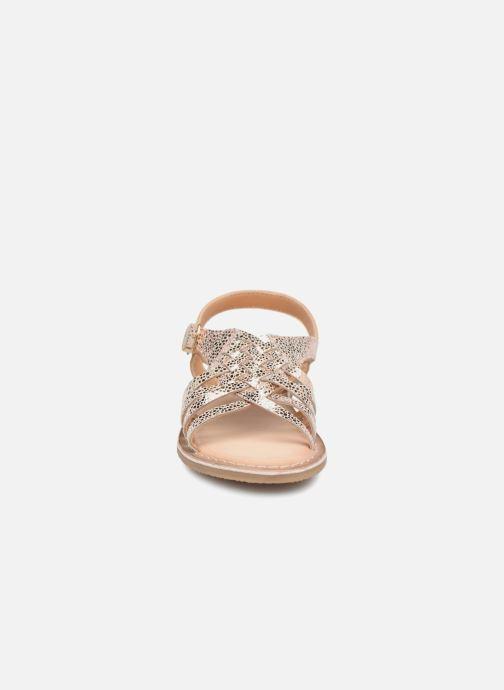 Sandales et nu-pieds Bopy Fouada Lilybellule Argent vue portées chaussures