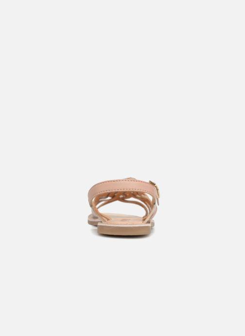 Sandales et nu-pieds Bopy Fouada Lilybellule Argent vue droite