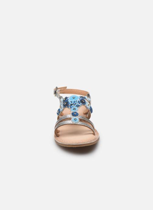 Sandali e scarpe aperte Bopy Fozia Lilybellule Argento modello indossato