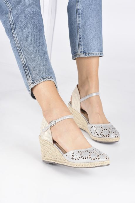 Espadrilles Xti Ossie Silver view from underneath / model view