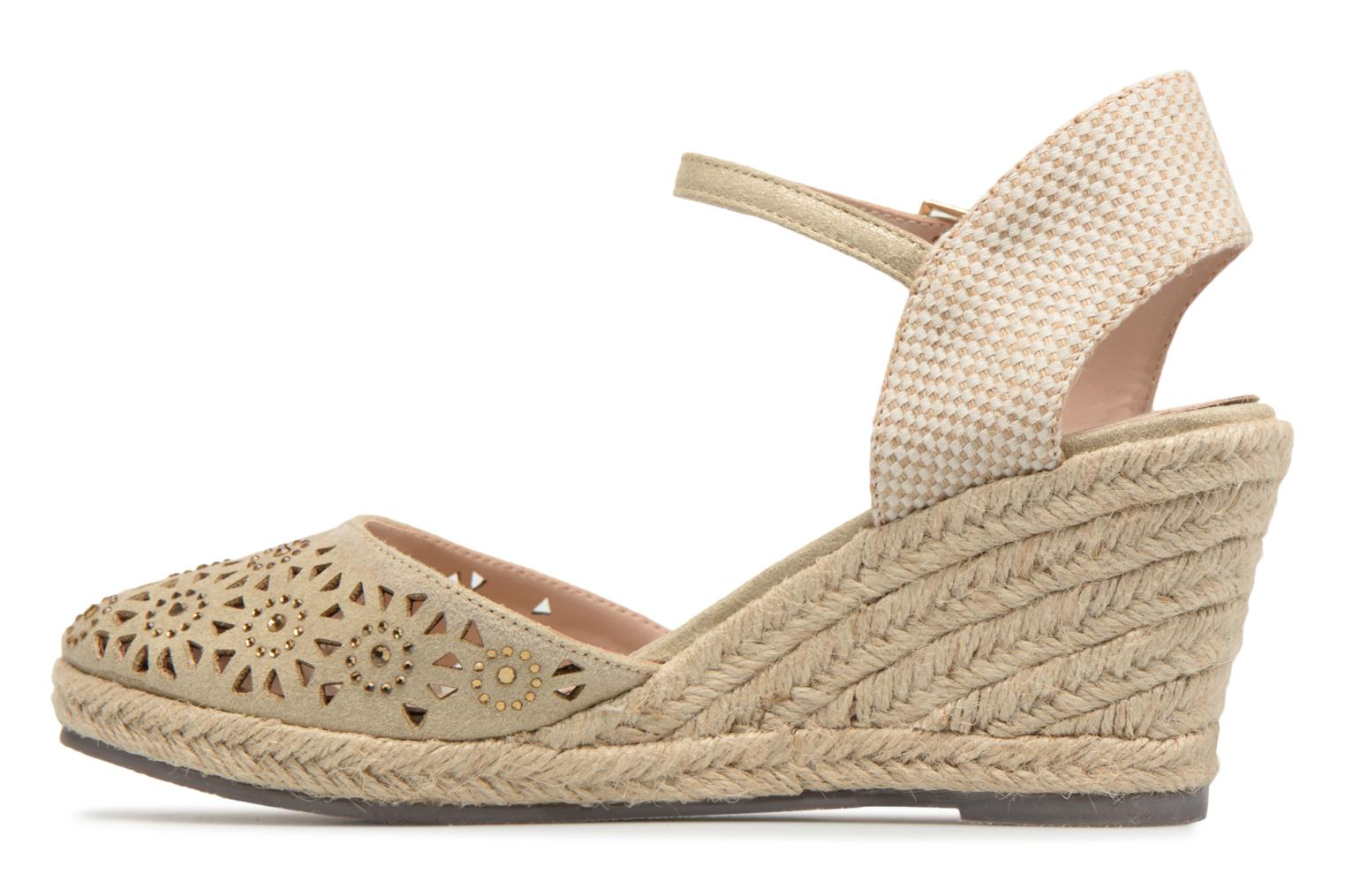 Espadrilles Xti Ossie Bronze and Gold front view