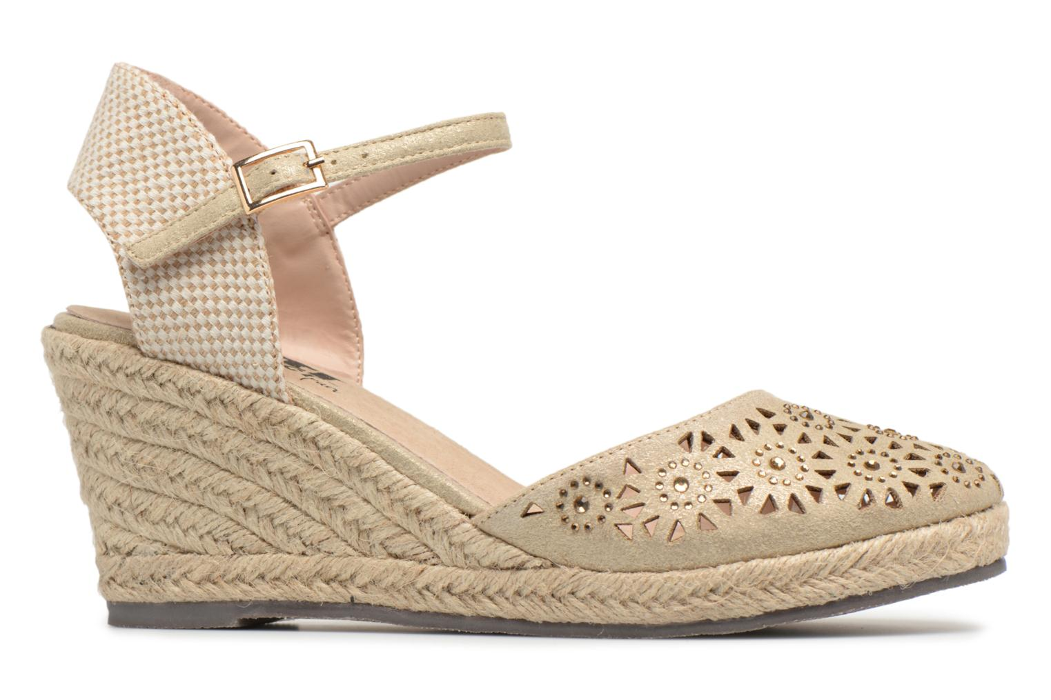 Espadrilles Xti Ossie Bronze and Gold back view