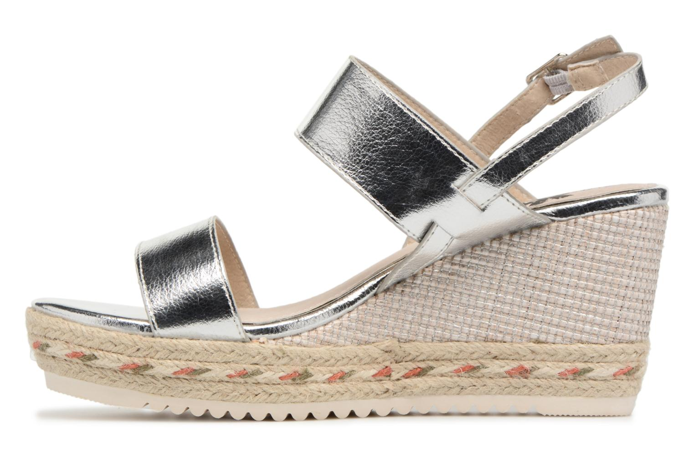 Sandales et nu-pieds Xti Tacoove Argent vue face