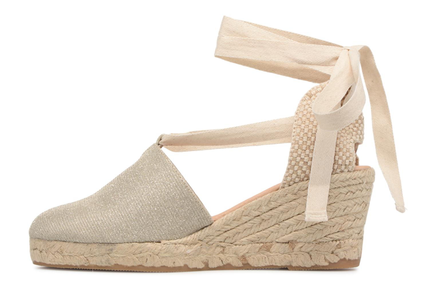 Espadrilles Georgia Rose Deesse Or et bronze vue face