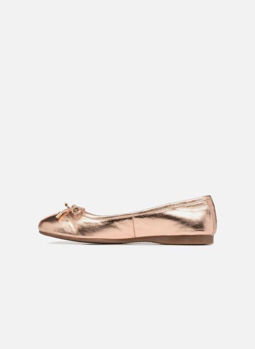 Ballet pumps Georgia Rose Lenova Soft Bronze and Gold front view