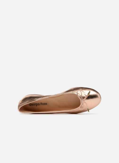 Ballet pumps Georgia Rose Lenova Soft Bronze and Gold view from the left