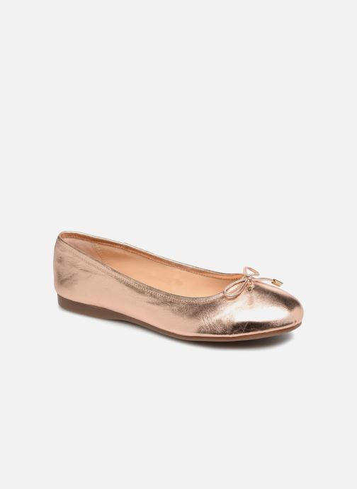 Ballerines Georgia Rose Lenova Soft Or et bronze vue détail/paire